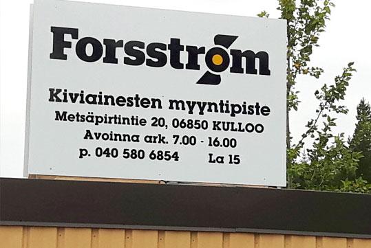 Maanrakennus Forsström Kiviainesten Myyntipiste